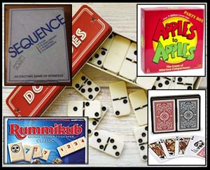 Games, cards, dominoes